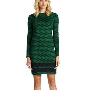 Michael Kors Midnight Navy & Green Dress